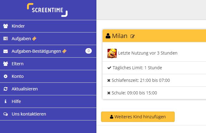 screentime dashboard