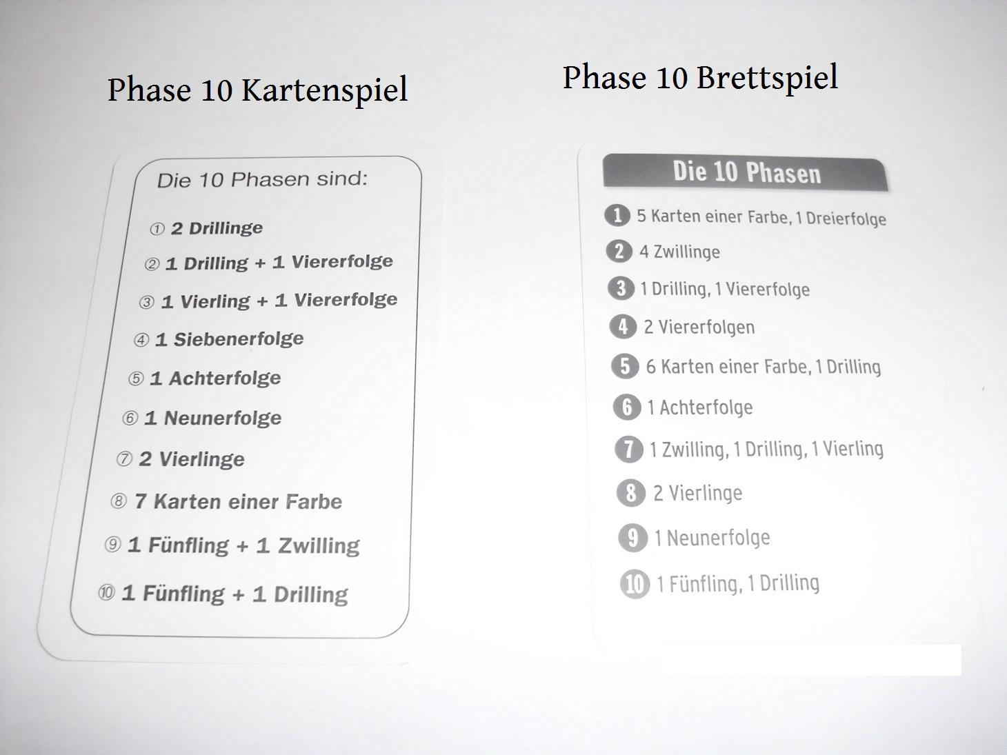 Phase 10 Master Neue Phasen